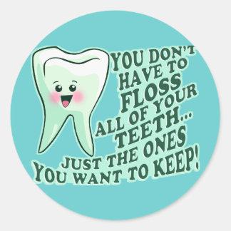 Dentist Dental Hygienist Classic Round Sticker