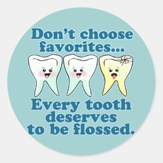 Dentist Dental Hygienist Dentistry Classic Round Sticker