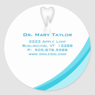 Dentist Dental Molar Tooth Sticker Turquoise curve
