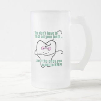 Dentist Dentistry Dental Hygienist Frosted Glass Beer Mug