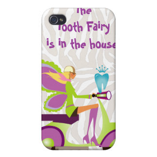 Dentist Gift Cute Tooth Fairy Scooter Girl iPhone 4/4S Cases