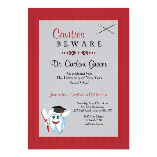 Dentist Graduation Invitation