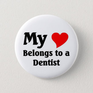 Dentist Heart 2 Inch Round Button