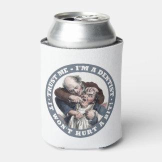 DENTIST humor custom monogram drink coolers