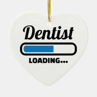 Dentist loading ceramic ornament