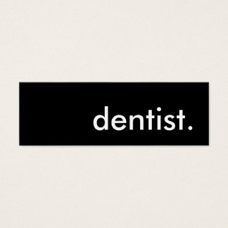dentist. mini business card