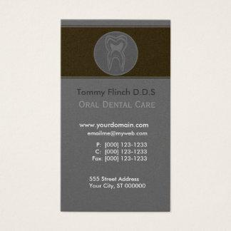 Dentist Minimalist Gray Tooth Business Card