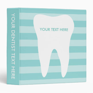 Dentist office binder for dental care clinic