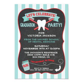 Dentist or dental hygienist Graduation party Card