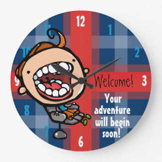 Dentist. Orthodontist. Child Dental Customizable Large Clock