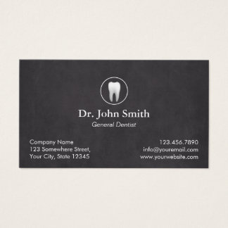 Dentist Plain Chalkboard Dental Appointment Business Card