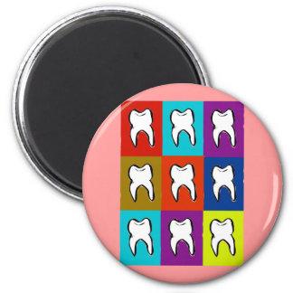 Dentist Popart Gifts 2 Inch Round Magnet