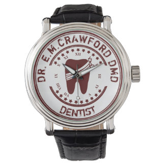 Dentist Rubber Stamp With Tooth And Your Name Watch