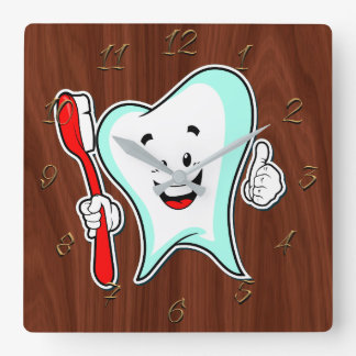 Dentist Square Wall Clock