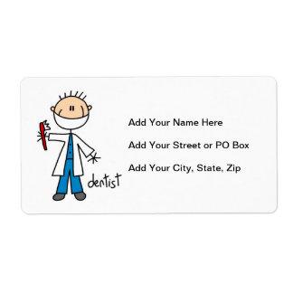 Dentist Stick Figure Shipping Label