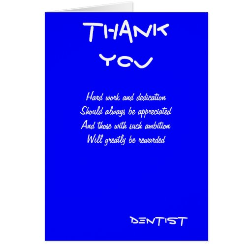 Dentist thank you cards | Zazzle