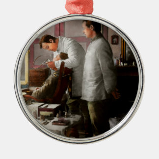 Dentist - The horrors of war 1917 Silver-Colored Round Ornament