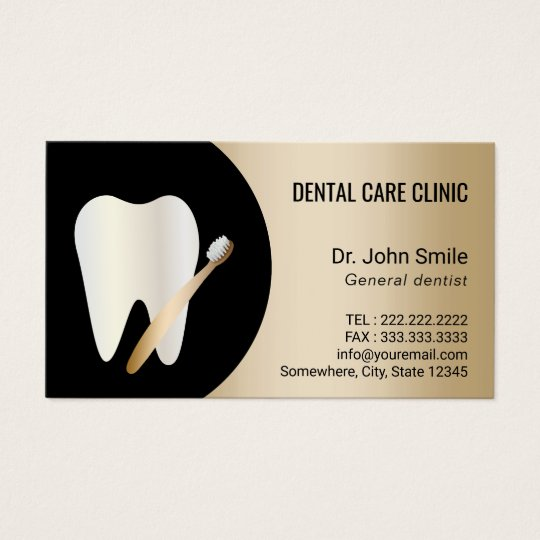 Dentist tooth toothbrush gold dental appointment business card dentist tooth toothbrush gold dental appointment business card reheart Choice Image