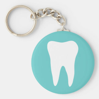 Dentistry keychain with white tooth logo