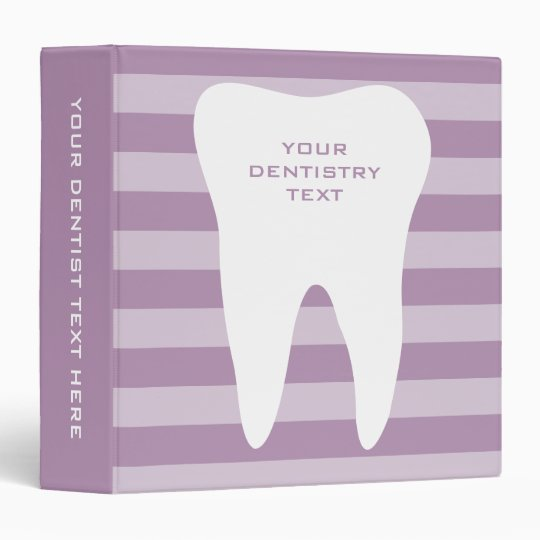 Dentistry office supplies binder for dentists