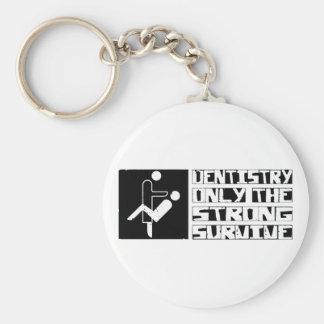 Dentistry Survive Basic Round Button Keychain