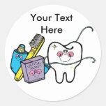 Dentist's Day March 6 Round Stickers