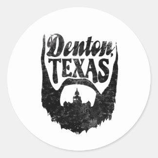 Denton, TX Beard Sticker