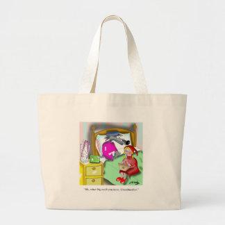 Denture Cartoon 9394 Large Tote Bag