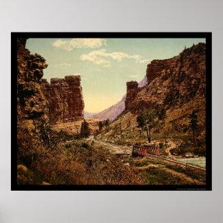 Denver and Rio Grande Railroad Track in Utah 1900 Poster