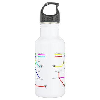 Denver Bike Map 18 Ounce Water Bottle