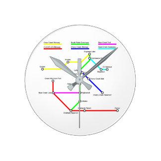 Denver Bike Map Wall Clock