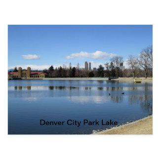 Denver City Park Lake Postcard