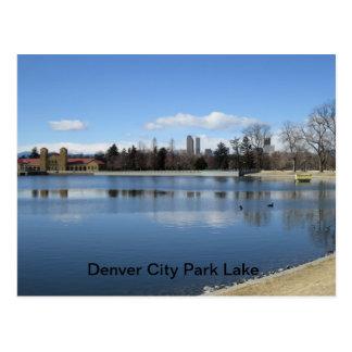 Denver City Park Lake Postcard