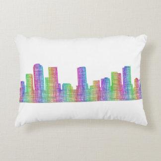 Denver city skyline accent pillow