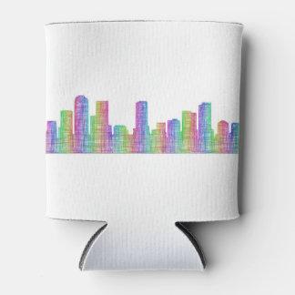 Denver city skyline can cooler