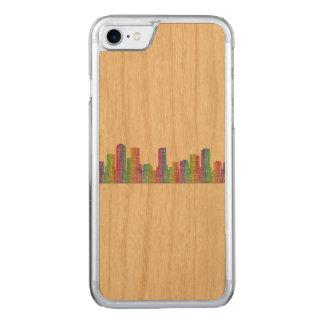 Denver city skyline carved iPhone 8/7 case