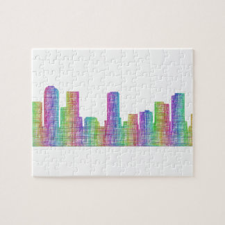 Denver city skyline jigsaw puzzle
