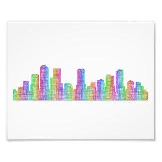Denver city skyline photo print