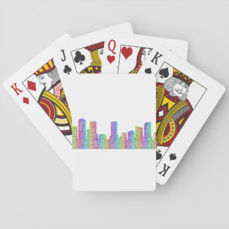 Denver city skyline playing cards