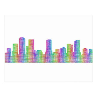 Denver city skyline postcard