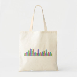 Denver city skyline tote bag