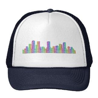 Denver city skyline trucker hat