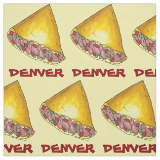 DENVER CO Colorado Omelette Egg Omelet Breakfast Fabric