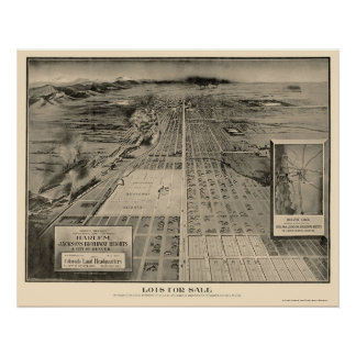 Denver, CO Panoramic Map - 1907 Poster