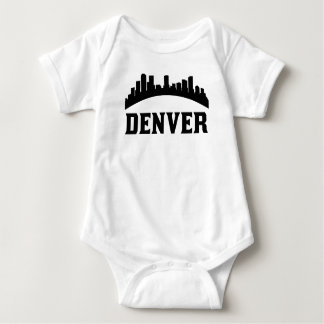 Denver CO Skyline Baby Bodysuit