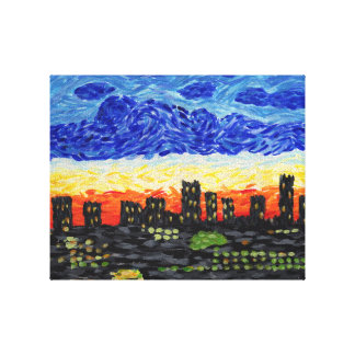 Denver,Co skyline Canvas Print