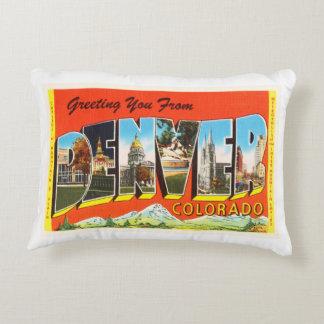 Denver Colorado CO Old Vintage Travel Souvenir Accent Pillow