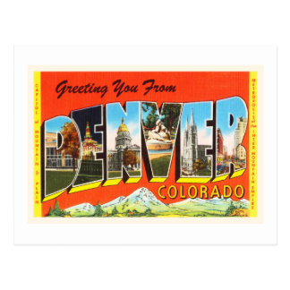 Denver Colorado CO Old Vintage Travel Souvenir Postcard