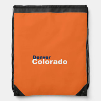 Denver, Colorado Drawstring Backpack