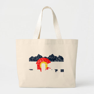 Denver Colorado Flag Large Tote Bag